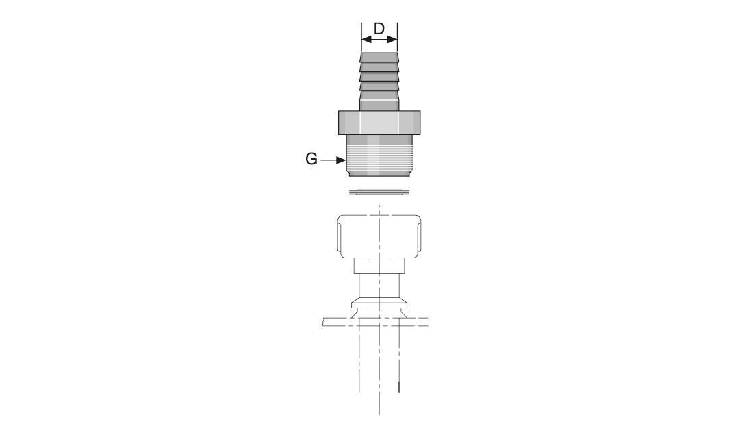 1x Saugleitung flexibel für Schlauchdosierpumpen